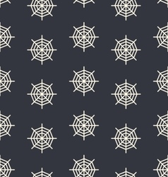 Design seamless monochrome spider web pattern vector image