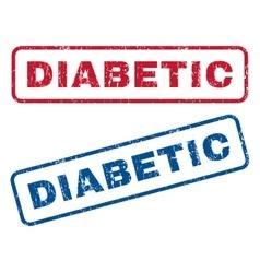 Diabetic rubber stamps vector