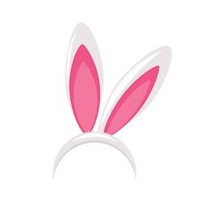 easter bunny ears mask vector image