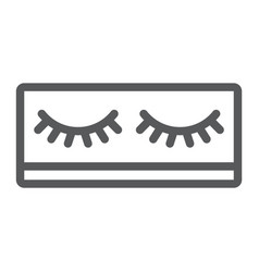 Fake eyelashes line icon makeup and beauty vector