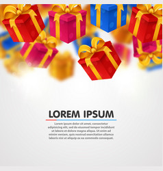 falling presents light background with present vector image