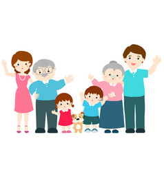 Family cartoon character xa vector