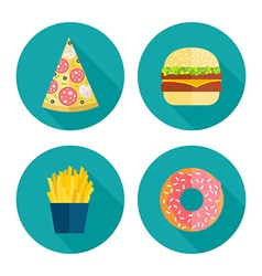 Fastfood icons vector