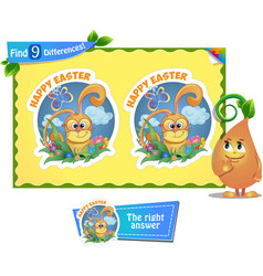 find 9 differences easter vector image vector image