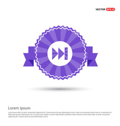 forward icon - purple ribbon banner vector image