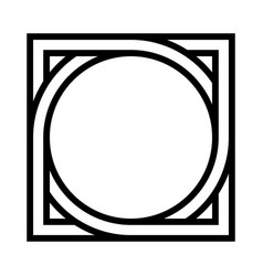 geometric shape pattern circle inscribed in square vector image