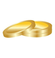 gold coin icon realistic style vector image