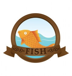gold fish logo vector image