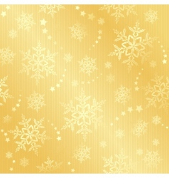 golden snow flake winter pattern vector image