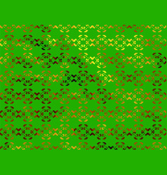 green abstract background with gold floral ornamen vector image