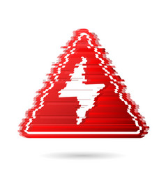 high voltage icon with noise effect or digital vector image