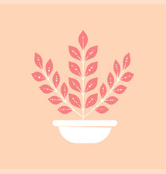 home plant in pot icon minimal modern style vector image