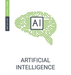 icoblockchainartificial intelligence icon human vector image