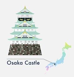 Japan Castle Osaka vector image