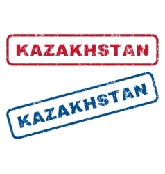 Kazakhstan Rubber Stamps vector