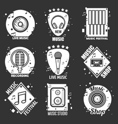 live music festival shop and recording studio vector image