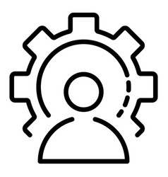 Logic man icon outline style vector
