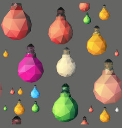 Low poly light bulb seamless pattern vector