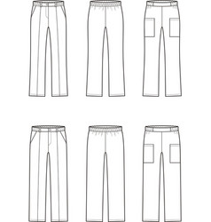 medical pants vector image
