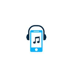 mobile music logo icon design vector image