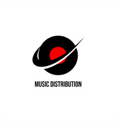 music distribution logo vector image