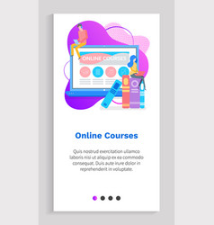 online courses students man and woman study vector image