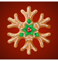 Ornate realistic traditional Christmas vector