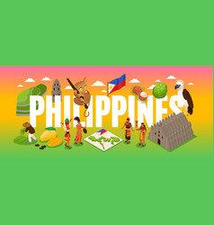 phillipines tourism concept vector image