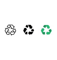 recycle line icon recycling symbol set vector image