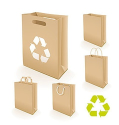 Recycling paper bag vector