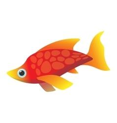 Red sea fish cartoon icon vector