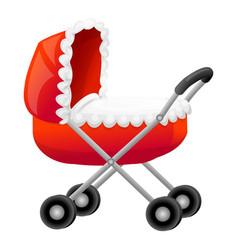 Red waterpropram icon cartoon style vector