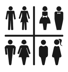 Restroom icon set vector image