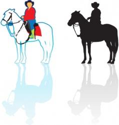 Riding horse vector