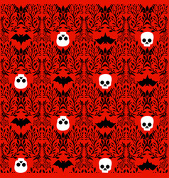 seamless pattern in victorian gothic style vector image