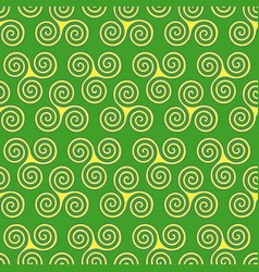 Seamless pattern with triple spiral shapes vector