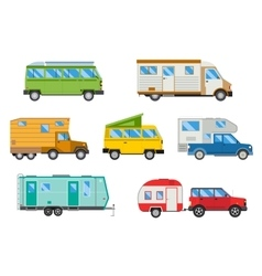 Set of different campers vector