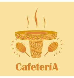 sombrero in the form of a cup of coffee vector image
