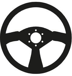 sport car steering wheel on white vector image
