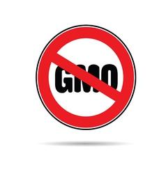 Stop gmo color vector