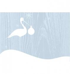 Stork carrying a bundle vector