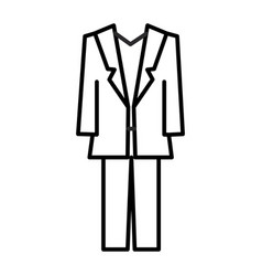 suit line icon sign on vector image vector image