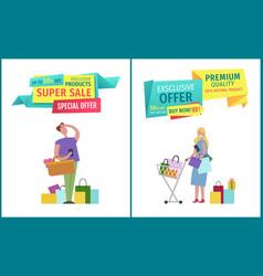 Super sale special offer set vector