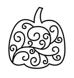 swirly patterned thanksgiving pumpkin clip art vector image