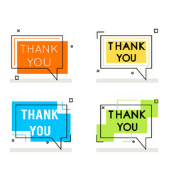 Thank you abstract line art banner card element vector