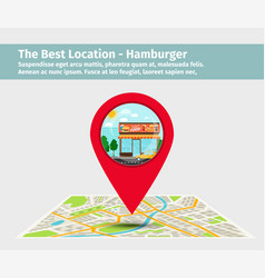 the best location hamburger vector image