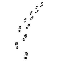 trail of shoes vector image