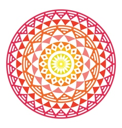 Tribal Aztec geometric pattern or print in circle vector image