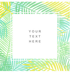 Tropical leaves background modern design vector