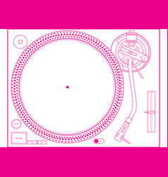 Turntabe design vector